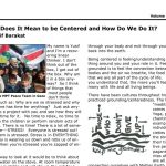 "New Article by Yusif in MPT Newsletter ""What Does It Mean to be Centered . . ."""